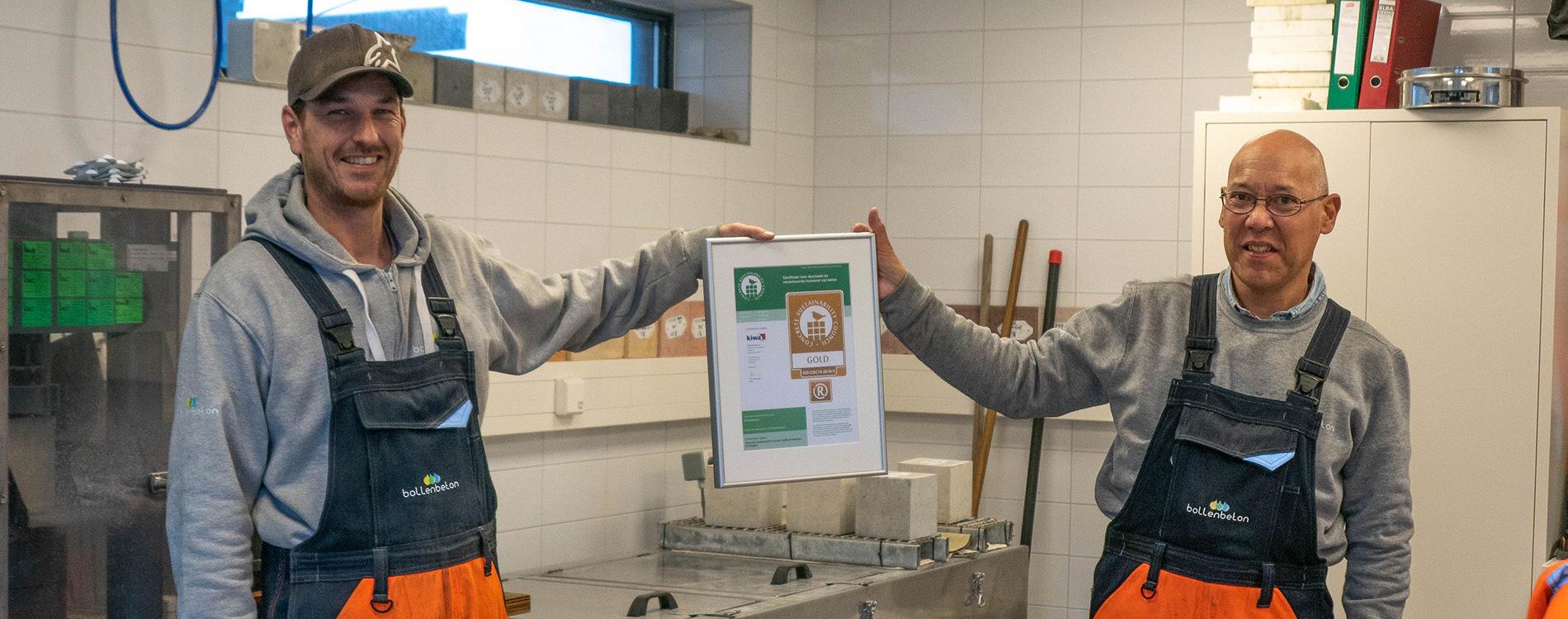 Bollenbeton behaalt het Concrete Sustainability Council certificaat!